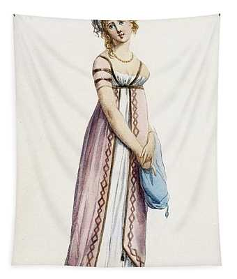 A Simply Designed Ladys Ball Dress Tapestry
