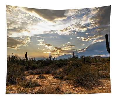 A Sonoran Desert Sunset  Tapestry