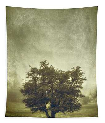 A Tree In The Fog 2 Tapestry