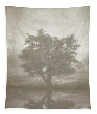 A Tree In The Fog 3 Tapestry