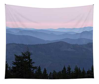 A View From Timberline Tapestry