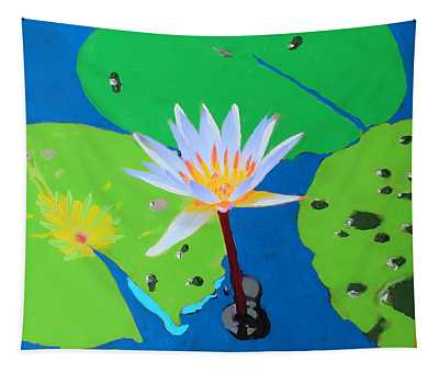 A Water Lily In Its Pad Tapestry