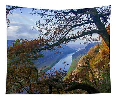 A Window To The Elbe In The Saxon Switzerland Tapestry