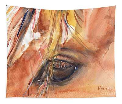 Horse Eye Painting A Wink Of The Eye Tapestry