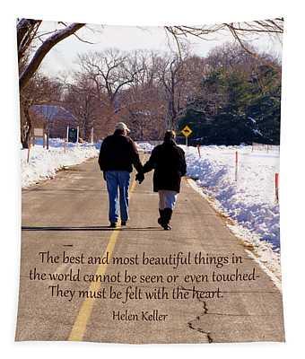 A Winter Walk/inspirational Tapestry