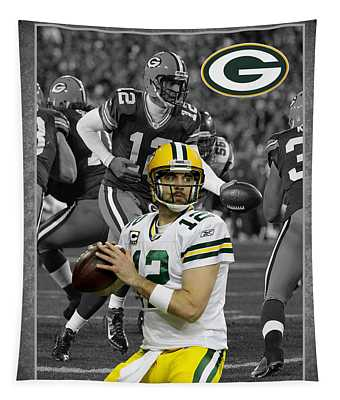 Aaron Rodgers Packers Tapestry