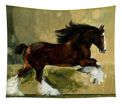 Clydesdale Stallion Tapestry