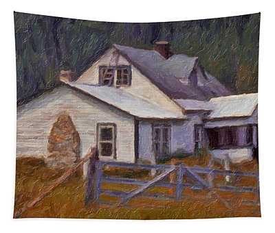 Abandoned Farm House Tapestry