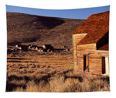 Abandoned Houses In A Village, Bodie Tapestry