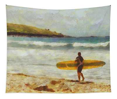 About To Surf Tapestry