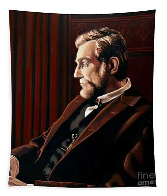 Abraham Lincoln By Daniel Day-lewis Tapestry