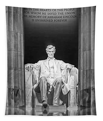 Tapestry featuring the photograph Abraham Lincoln Memorial by Susan Candelario