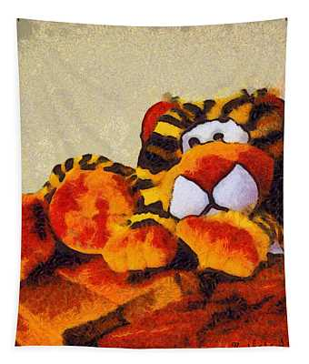 Abstract Bengal Tiger Tapestry