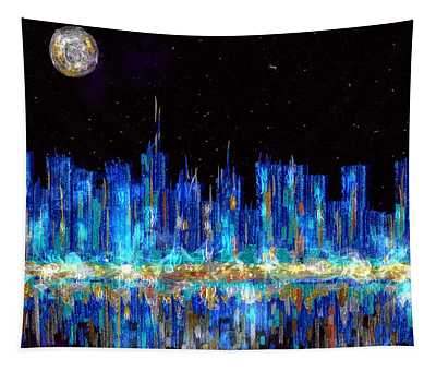 Abstract City Skyline Tapestry