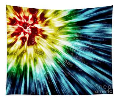Abstract Dark Tie Dye Tapestry