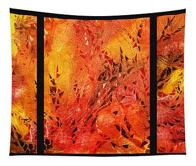 Abstract Fireplace Tapestry