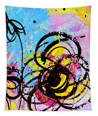 Abstract Flowers 2 Tapestry