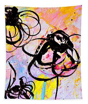 Abstract Flowers In Pink 3 Tapestry