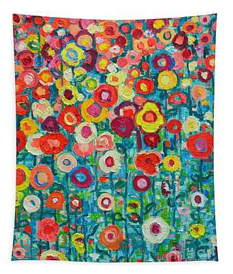 Abstract Garden Of Happiness Tapestry