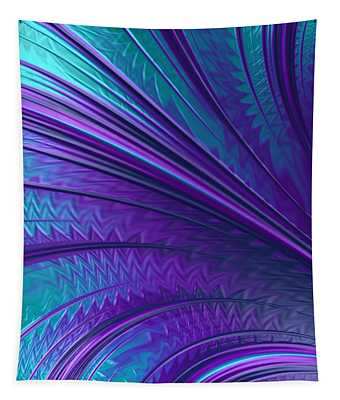 Abstract In Blue And Purple Tapestry