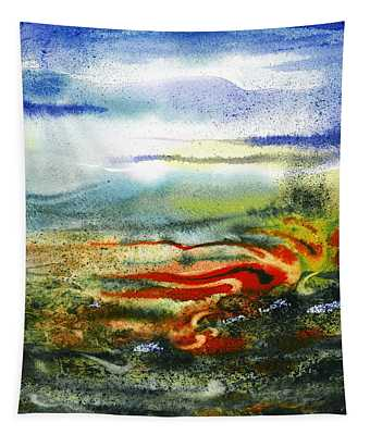 Abstract Landscape Red River Tapestry