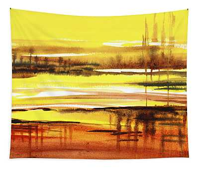 Abstract Landscape Reflections I Tapestry