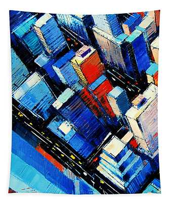 Abstract New York Sky View Tapestry