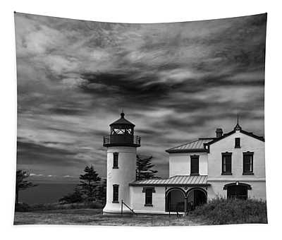 Admiralty Head Lighthouse Bw Tapestry