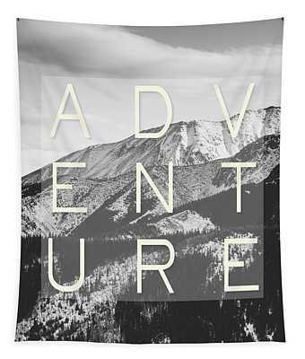 Adventure Typography Tapestry