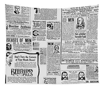 Advert - Edwardian Mens Health Tapestry