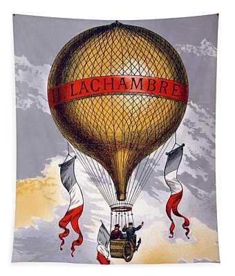 Advertisement For Balloons Manufactured Tapestry