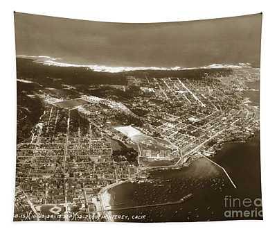 Aerial  Of Monterey Calif. Oct. 25 1934 Tapestry