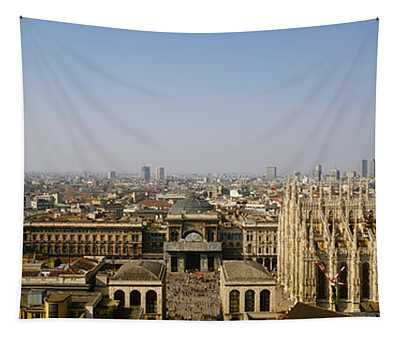 Aerial View Of A Cathedral In A City Tapestry