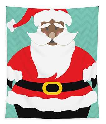 African American Santa Claus Tapestry