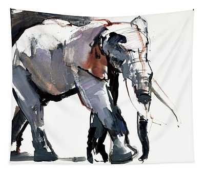 African Elephant, 2012, Mixed Media On Paper Tapestry