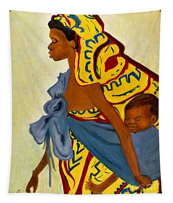 African Mother And Child Tapestry