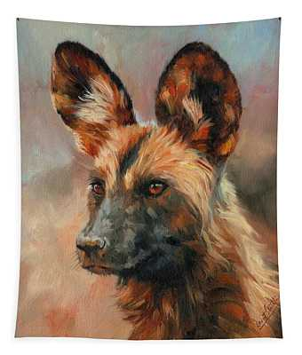 African Wild Dog Tapestry