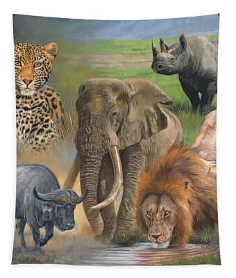 Africa's Big Five Tapestry