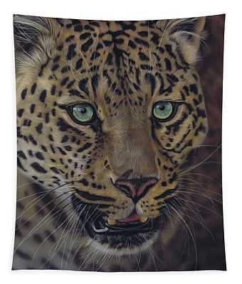 After Dark All Cats Are Leopards Tapestry
