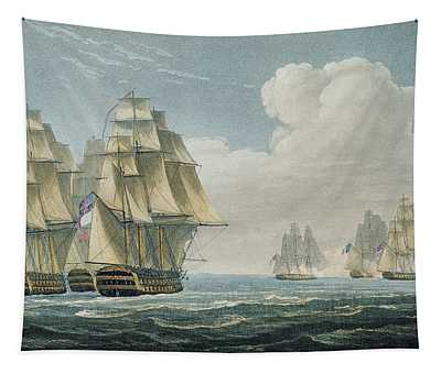 After The Battle Of Trafalgar Tapestry