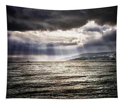 After The Storm Sea Of Galilee Israel Tapestry