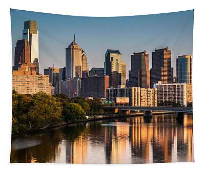 Afternoon In Philly Tapestry