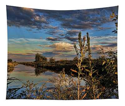 Late Afternoon In The Mead Wildlife Area Tapestry
