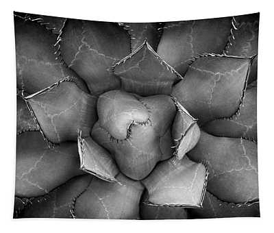 Agave Black And White Abstract Tapestry