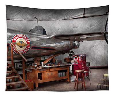 Airplane - The Repair Hanger  Tapestry