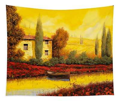 Al Tramonto Sul Fiume Tapestry