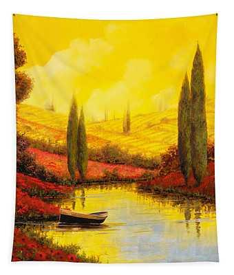 Al Tramonto Sul Torrente Tapestry