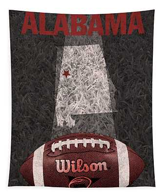 Alabama Football Map Poster Tapestry