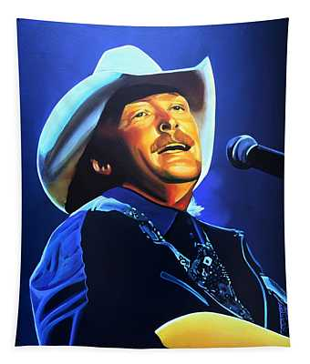 Alan Jackson Painting Tapestry