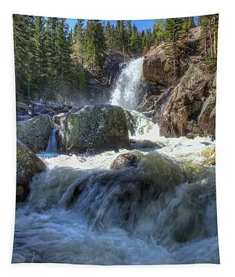Tapestry featuring the photograph Alberta Falls by Perspective Imagery